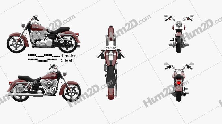 Harley-Davidson Dyna Switchback 2012 Imagem Clipart
