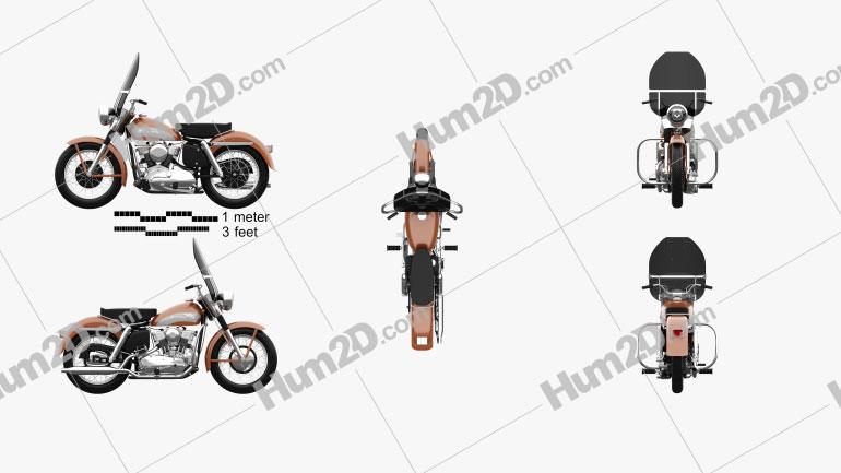 Harley-Davidson KH Elvis Presley 1956 Motorrad clipart