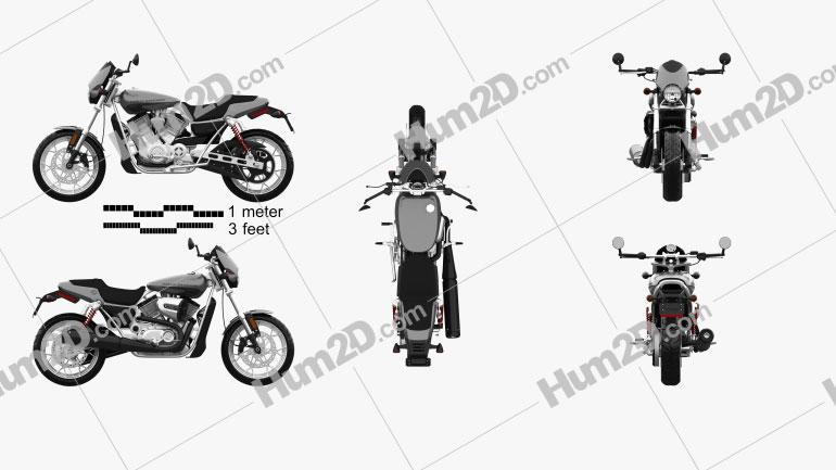 Harley-Davidson Street Rod XG750 2017 Motorcycle clipart
