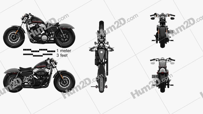 Harley-Davidson Sportster 1200 Forty-Eight 2013 Moto clipart