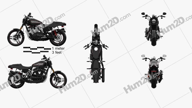Harley-Davidson Sportster  XR1200X 2012 Moto clipart