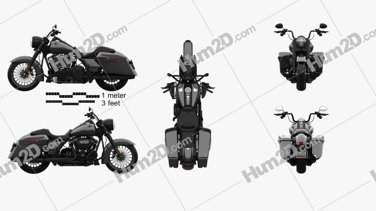Harley-Davidson Road King 2018 Moto clipart