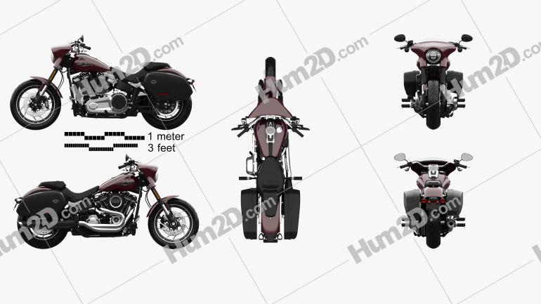 Harley-Davidson FLSB Sport Glide 107 2018 Clipart Image