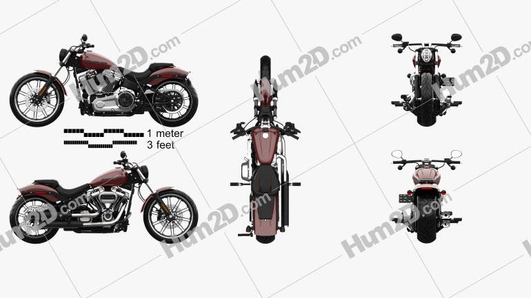 Harley-Davidson FXBRS Breakout 114 2018 Clipart Image