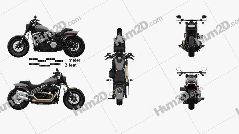 Harley-Davidson FXFB Fat Bob 114 2018 Motorcycle clipart