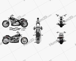 Harley-Davidson SDBV Fat Boy 114 2018 Motorcycle clipart