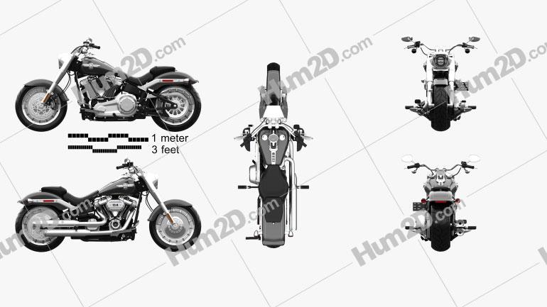 Harley-Davidson SDBV Fat Boy 114 2018 Clipart Image