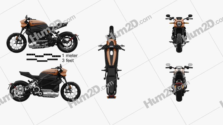 Harley-Davidson LiveWire 2019 Clipart Image