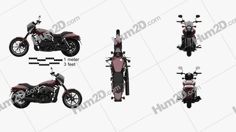 Harley-Davidson Street 750 2018 Clipart Image