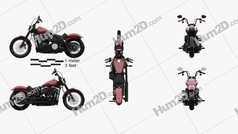 Harley-Davidson Street Bob 2018 Motorcycle clipart