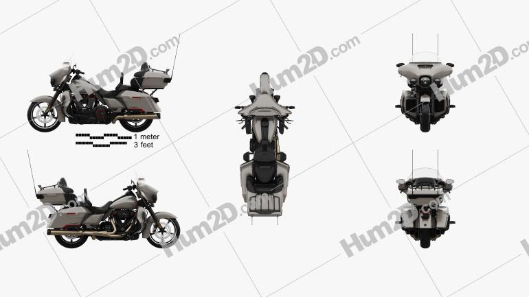 Harley-Davidson CVO limited 2020 Clipart Image