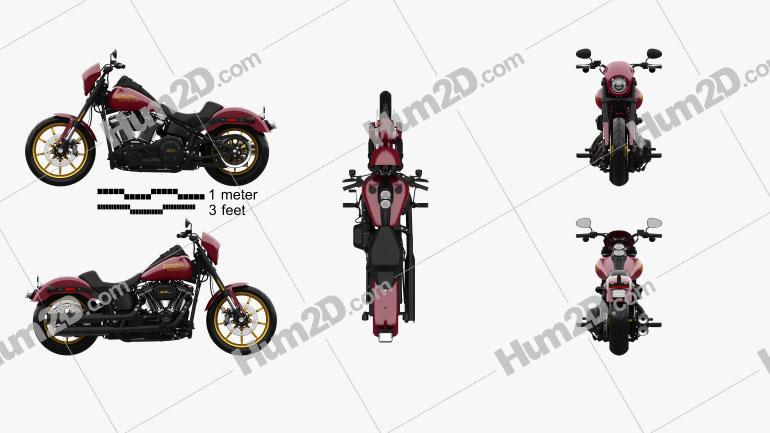 Harley-Davidson Low Rider 107 2021 Imagem Clipart