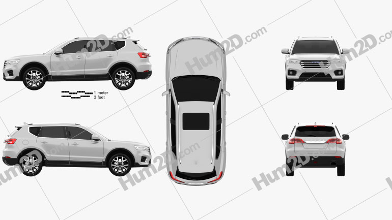 Haval H7 2019 car clipart