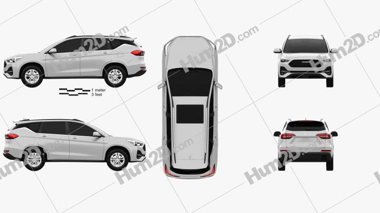 Haval M6 2019 car clipart
