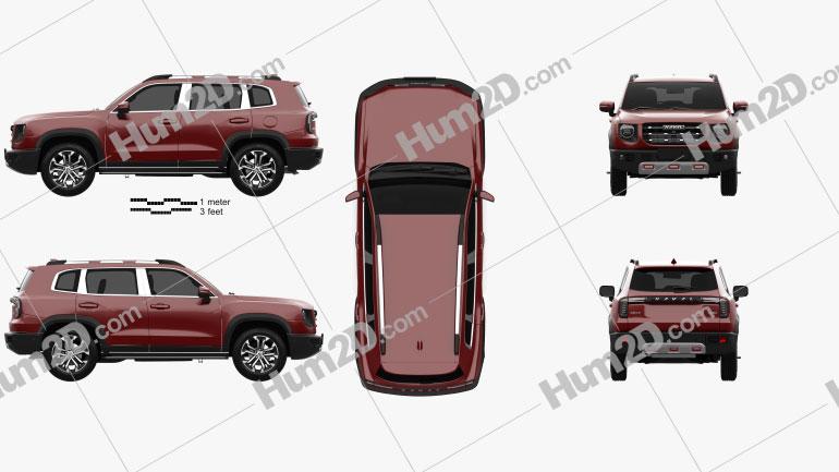 Haval Dagou 2020 car clipart