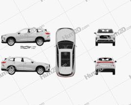 Haval H6 mit HD Innenraum 2021 car clipart