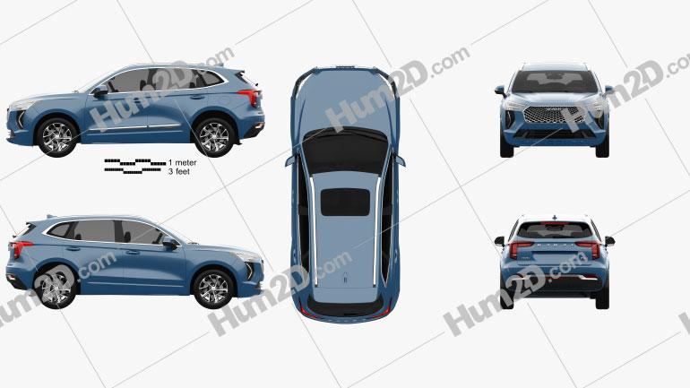 Haval Jolion 2020 car clipart