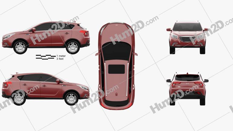 Hawtai Laville 2019 car clipart