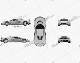 Hennessey Venom GT 2012 car clipart