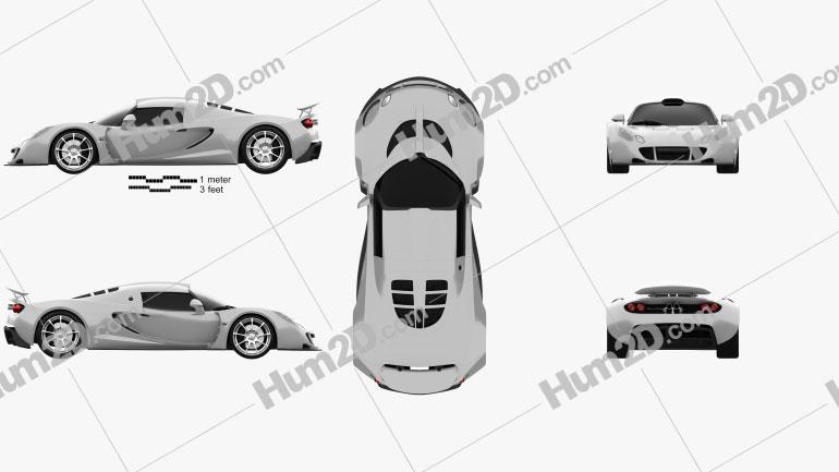 Hennessey Venom GT 2012 Clipart Image