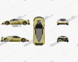 Hennessey Venom F5 2019 car clipart