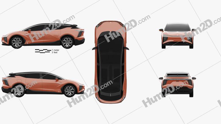 HiPhi X 2020 car clipart