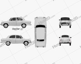 Hindustan Ambassador Classic 1999 car clipart