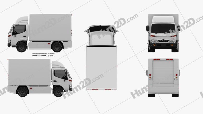 Hino 300 Standard Cab Box 2010 Clipart Image
