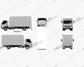 Hino 195 Hybrid Box Truck 2012 Clipart