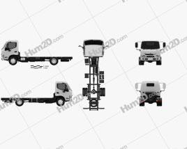 Hino 300-616 Chassis Truck 2011