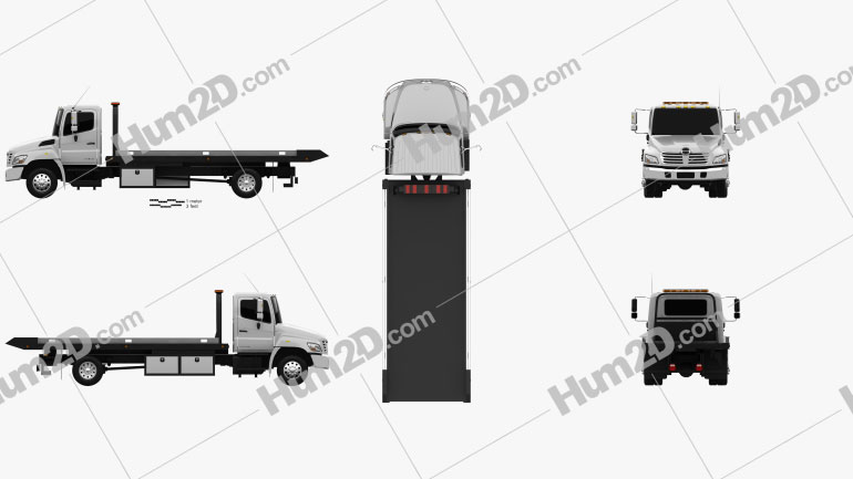 Hino 258 ALP Tow Truck 2007 clipart