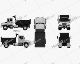 Hino 338 Dump Truck 2007 clipart