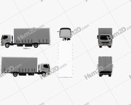 Hino 500 FD (1027) Load Ace Box Truck 2008 clipart