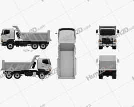 Hino 700 (2841) Tipper Truck 2009 clipart