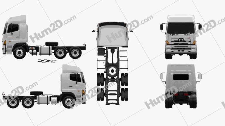 Hino 700 (2845) Tractor Truck 2009 clipart