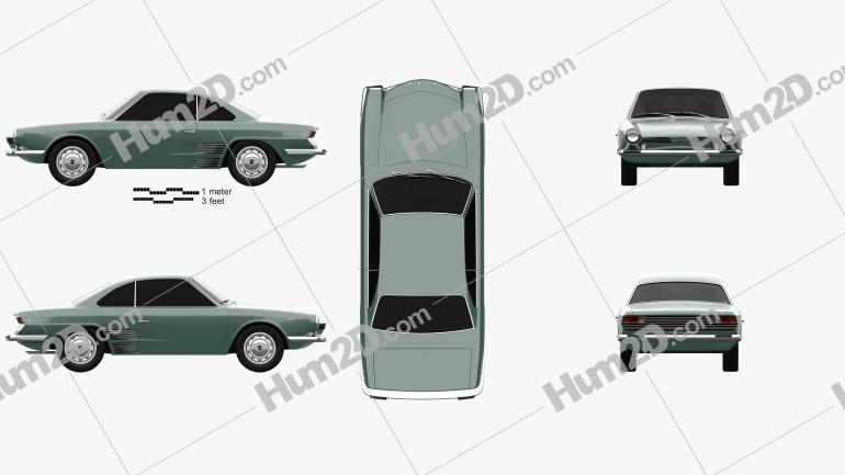Hino Contessa 900 Sprint 1961 car clipart