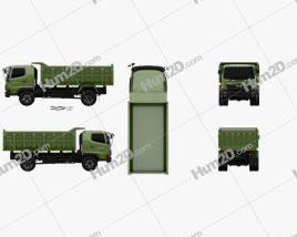 Hino 500 FG Tipper Truck 2016 clipart