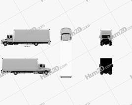 Hino 258 Box Truck 2013 clipart