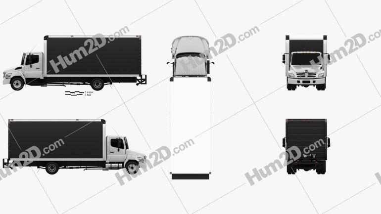 Hino 185 Box Truck 2006 clipart
