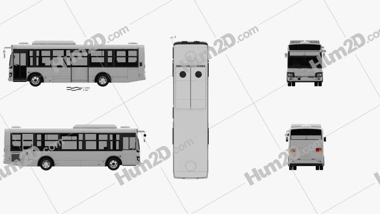 Hino Rainbow Bus 2016 clipart
