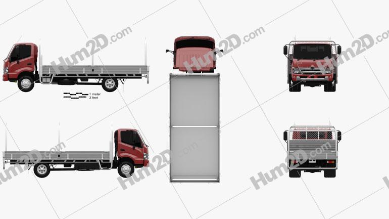 Hino 300 Pritschenwagen 2020 clipart