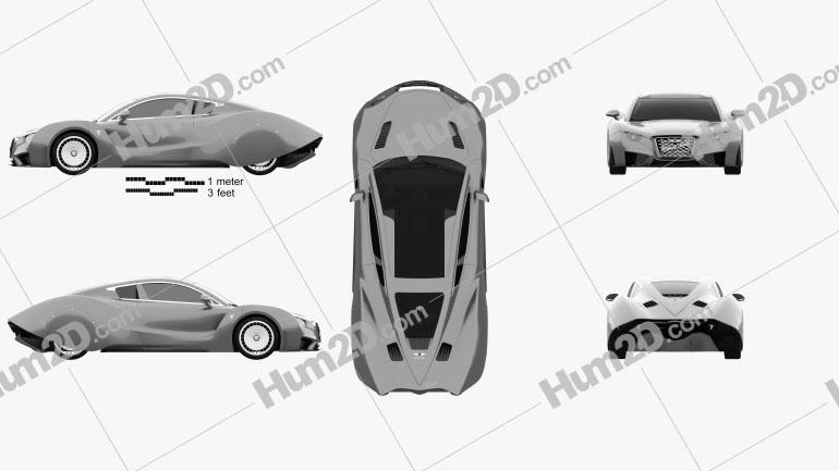 Hispano-Suiza Carmen 2019 car clipart
