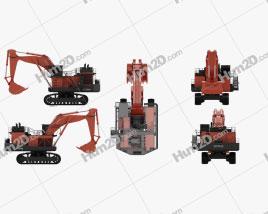 Hitachi EX3600 2018 Tractor clipart