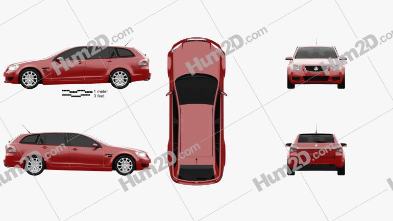 Holden VE Commodore Sportwagon 2012 car clipart