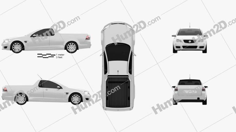 Holden VE Commodore UTE 2012 car clipart