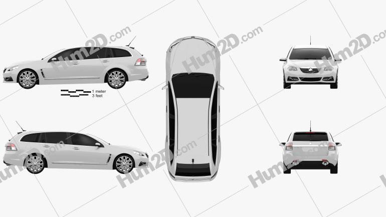 Holden VF Commodore Calais V sportwagon 2013 car clipart