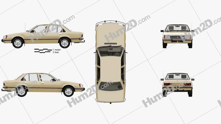 Holden Commodore mit HD Innenraum 1980 car clipart