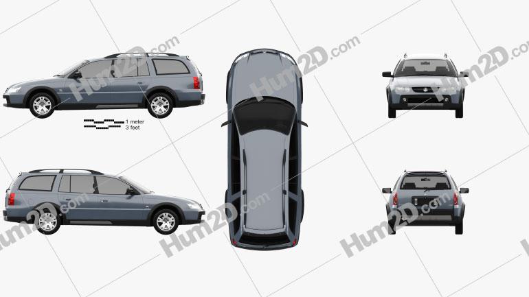 Holden Adventra LX6 (VZ) 2005 car clipart