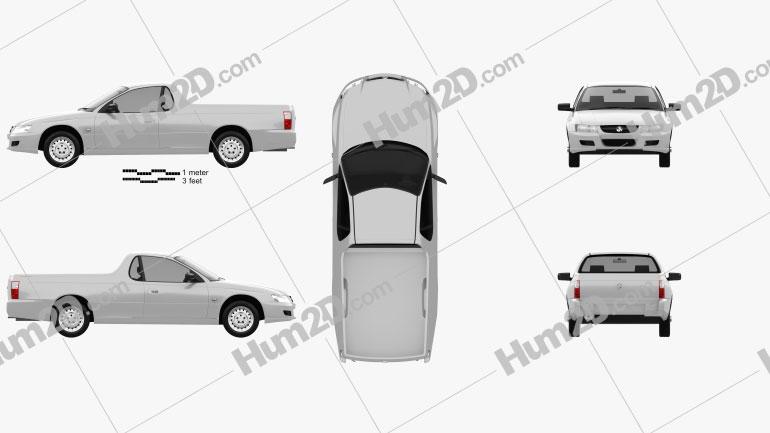 Holden VZ Ute 2004 Clipart Image