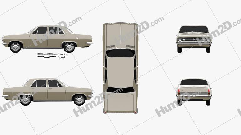 Holden HR Premier 1966 car clipart